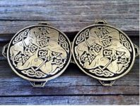 Celtic Horse Cloak Clasp Antiqued