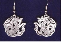 Celtic Seahorse Earrings