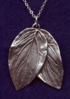 Elf Double Leaf Necklace