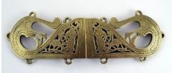 Large Viking Cloak Clasp Brass Plated