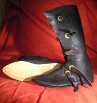 Luxury Tall 14th Century  Buckled Boot