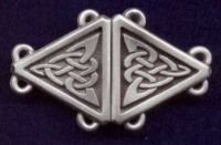 Celtic Triangular Cloak Clasp Small Version