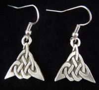 Triangle Celtic Knot Earrings