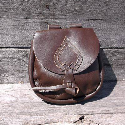 Viking Spade Style Pouch  Brown