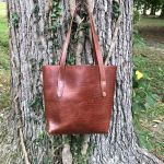 Medium Size Leather Tote Bag